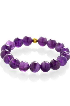 Midnight amethyst bracelet