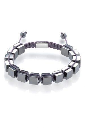 Hematite cubes shamballa bracelet