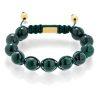 Malachite braided bracelet