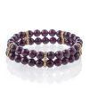 Double bracelet - garnet