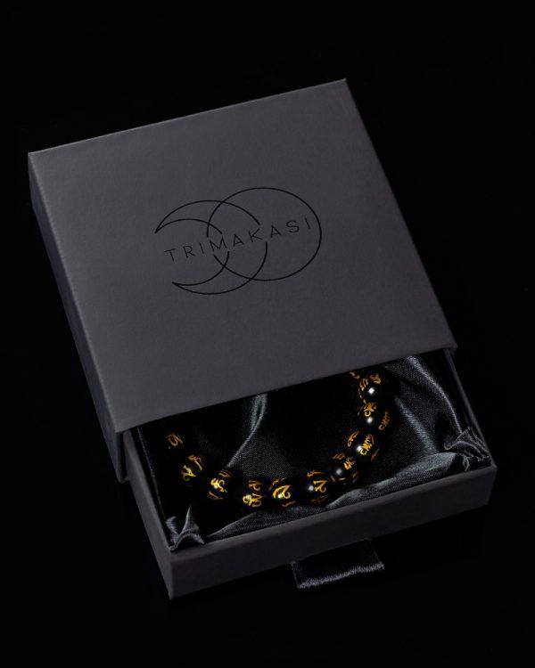 Buddhist mantra men's bracelet
