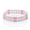 Rose quartz women's double bracelet