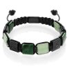 Forest flatbead bracelet
