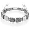 Picture jasper flatbead bracelet