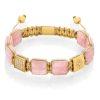 Flatbead bracelet Rose quartz
