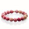 Pink rodonite bracelet