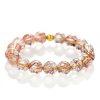 Copper rutilated quartz bracelet