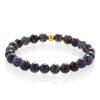 Iolite bracelet gold