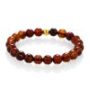 Blood Amber bracelet gold