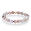 Botswana agate pink bracelet