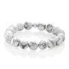 Howlite bracelet silver