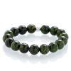 Serpentinite bracelet silver