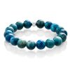 Blue apatite bracelet silver