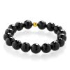 Black tourmaline bracelet gold