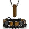 Set of jewelry made from tiger eye
