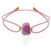 Raw pink tourmaline bracelet