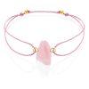 Raw rose quartz bracelet