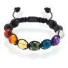 Chakra braided bracelet with lava stone