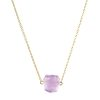 Raw Amethyst necklace for women